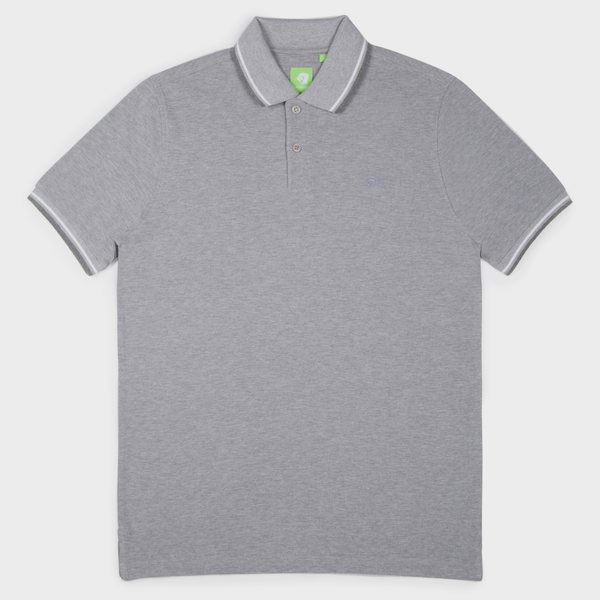 Light Grey Fashion Solid Polo