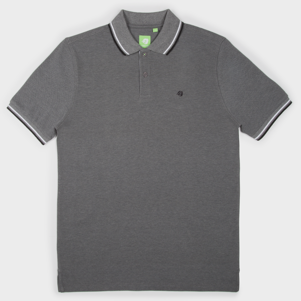 Dark Grey Fashion Solid Polo