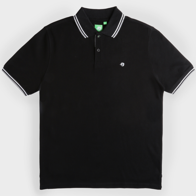 Black Fashion Solid Polo