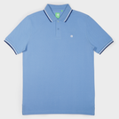 Blue Fashion Solid Polo