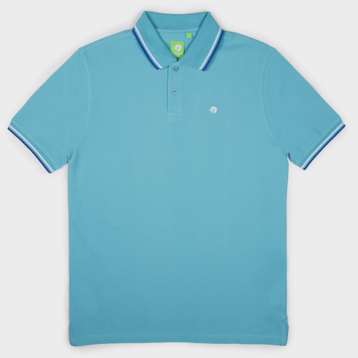 Sea Blue Fashion Solid Polo