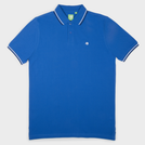 Royal Blue Fashion Solid Polo