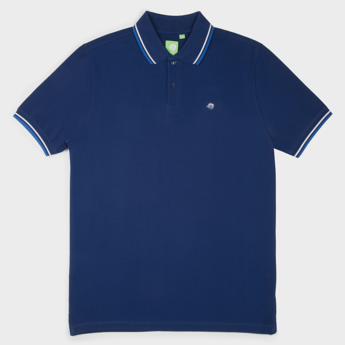 Navy Fashion Solid Polo