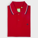 Red Fashion Solid Polo