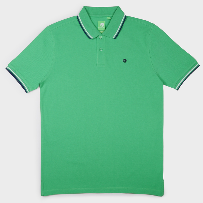 Light Green Fashion Solid Polo