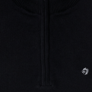 Black Mock Neck Half Zipper Pullover