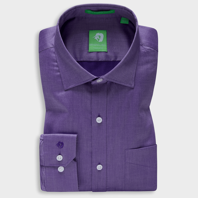 Premium Purple Supima Chambray Shirt