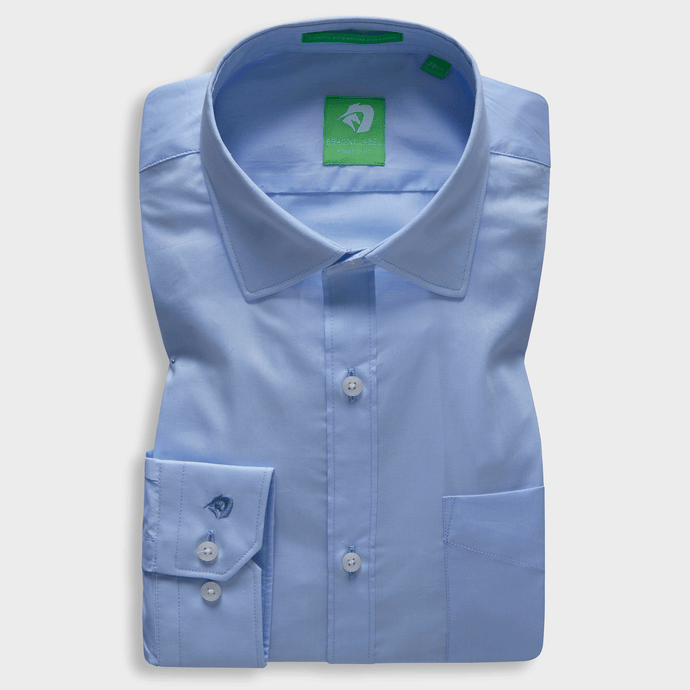 Premium Sky Blue Solid Shirt