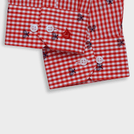Red Trendy Tennis Racket Motif Shirt