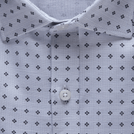 Light Grey Melange Trendy Printed Shirt