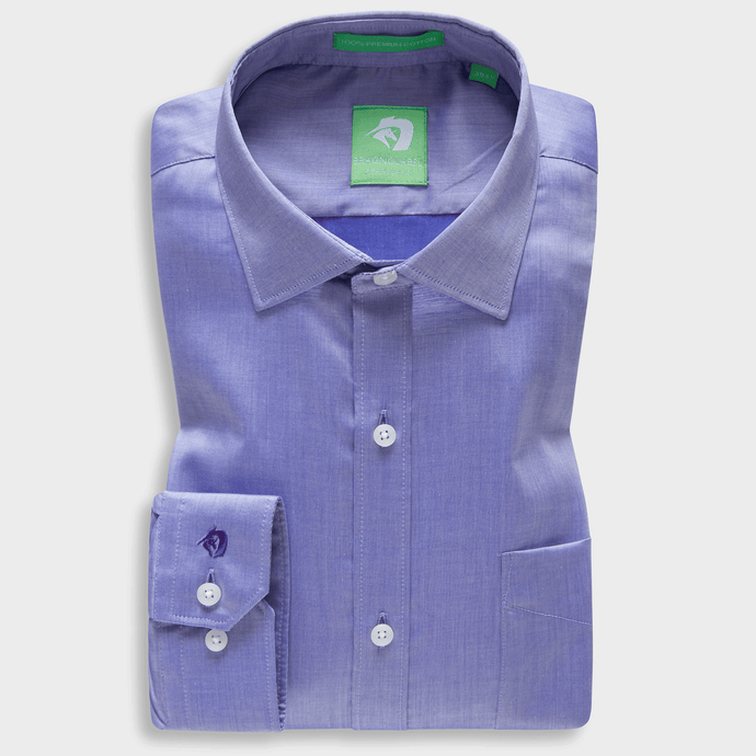 Premium Light Purple Supima Chambray Shirt