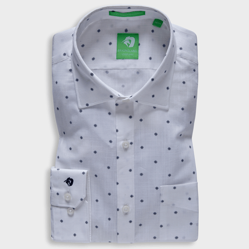 White Number Sign Printed Shirt