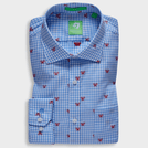 Blue Trendy Tennis Racket Motif Shirt