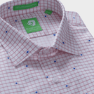 Red Check Motif Shirt