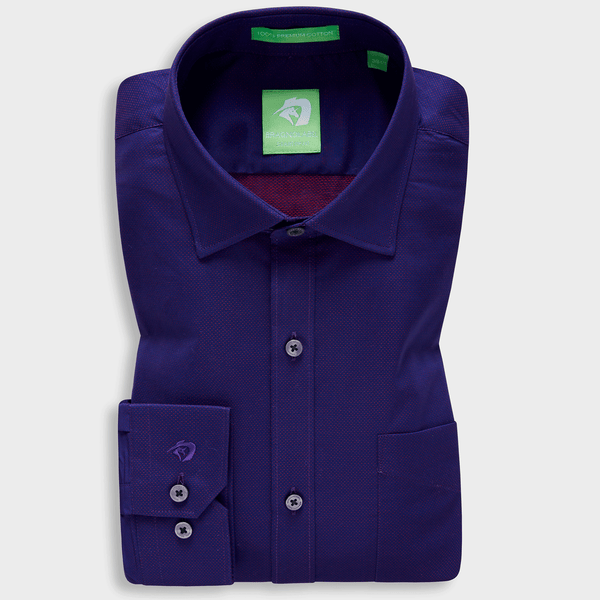 Purple Ceremonial Micro Pattern Shirt