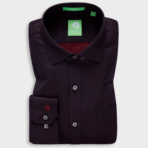 Maroon Ceremonial Micro Pattern Shirt