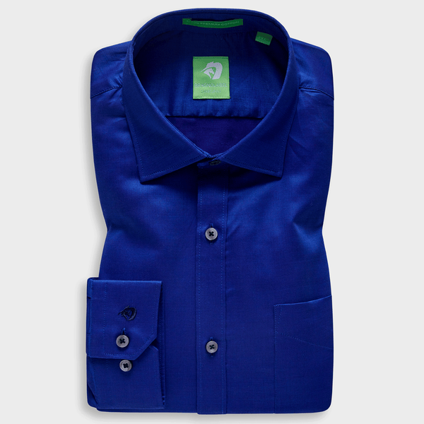 Premium Dark Blue Festive Solid Shirt