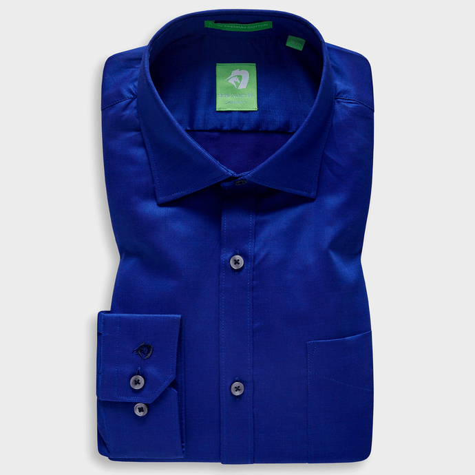 Dark Blue Festive Solid Shirt