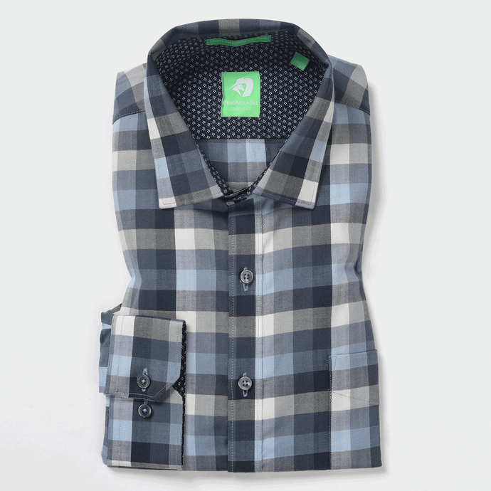 Grey Melange Check Shirt