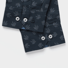 Navy Leaf Printed Shirt