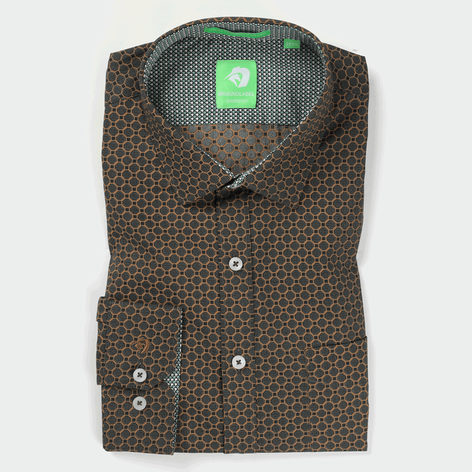 Green Geometric Printed Shirt