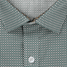 Green Diagonal Printed Shirt