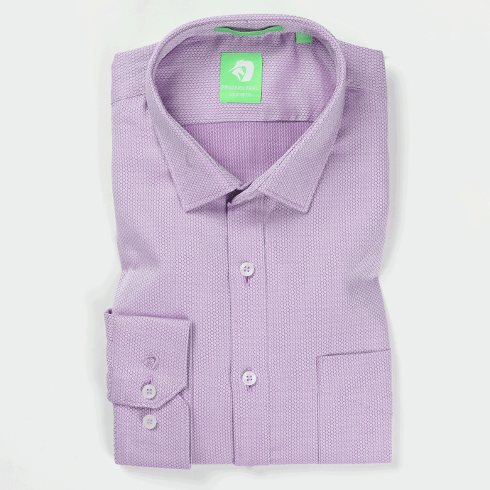 Purple Hexagonal Pattern Shirt