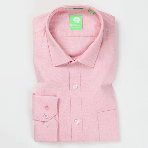 Pink Step Pattern Shirt