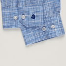 Blue Linen Shadow Check Shirt