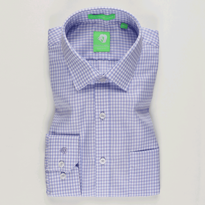 Light Purple Classic Check Shirt