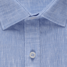 Sky Blue Linen Solid Shirt