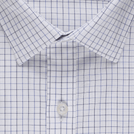 White Classic Check Shirt (Half Sleeves)