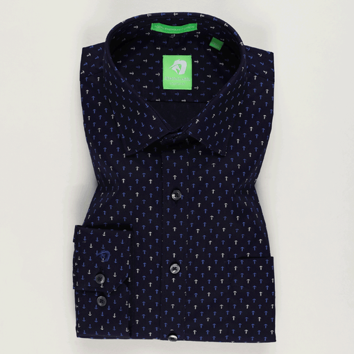 Blue Anchor Printed Shirt