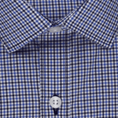 Blue Fashion Check Shirt