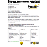 Cypress, Texas Water Polo Camp: March 13-15, 2017