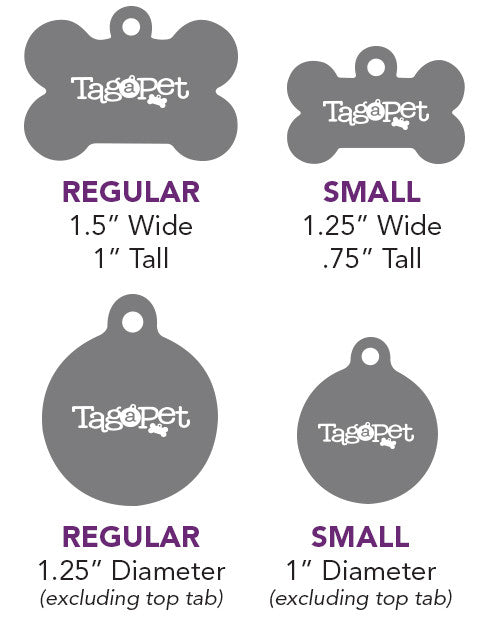 Pet Tags Sizing Chart