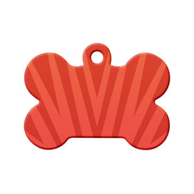 Abstract Red Spikes Bone Pet ID Tag