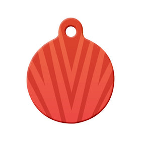 Abstract Red Spikes Circle Pet ID Tag
