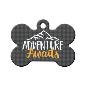Adventure Awaits Bone Pet ID Tag