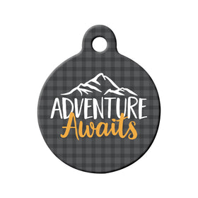 Adventure Awaits Circle Pet ID Tag