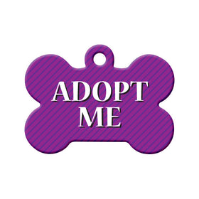 Adopt Me Purple Striped Design Bone Pet ID Tag