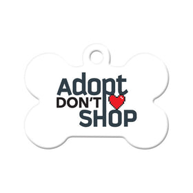 Adopt Don't Shop (Light) Bone Pet ID Tag