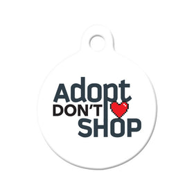Adopt Don't Shop (Light) Circle Pet ID Tag