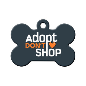 Adopt Don't Shop (Dark) Bone Pet ID Tag
