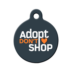 Adopt Don't Shop (Dark) Circle Pet ID Tag