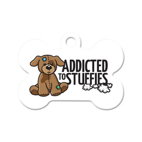 Addicted to Stuffies Bone Pet ID Tag