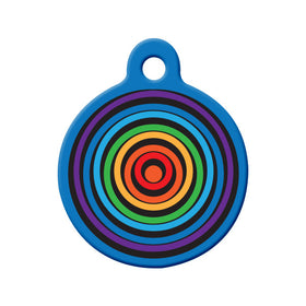 Rainbow Circles Circle Pet ID Tag