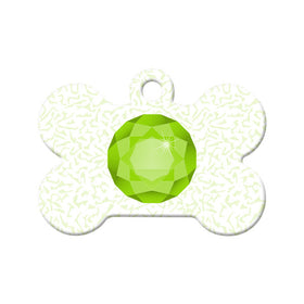 August Birthstone Design Bone Pet ID Tag