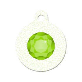 August Birthstone Design Circle Pet ID Tag