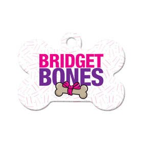 Bridget Bones Parody Bone Pet ID Tag